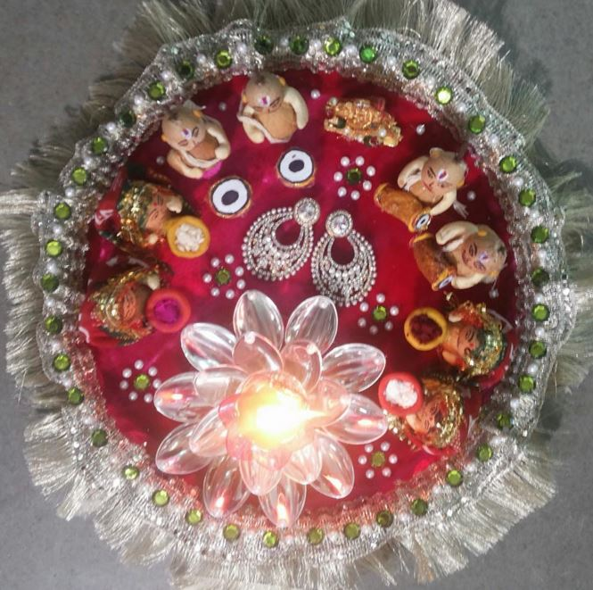 IDEAS FOR AARTI THAALI DECORATION IN COMPETITION