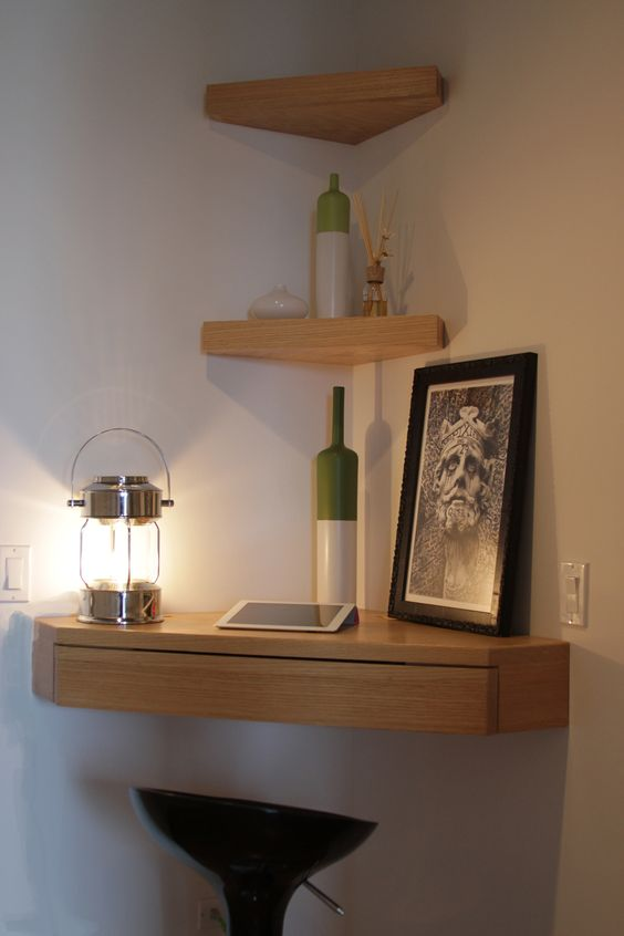 Triangular Corner Shelf