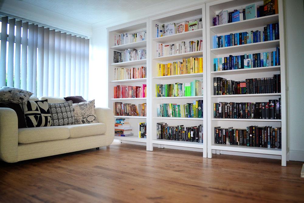 color bookshelf